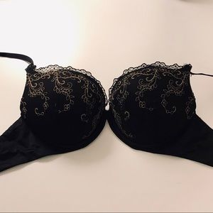 Aerie Gold Embroidered Bra